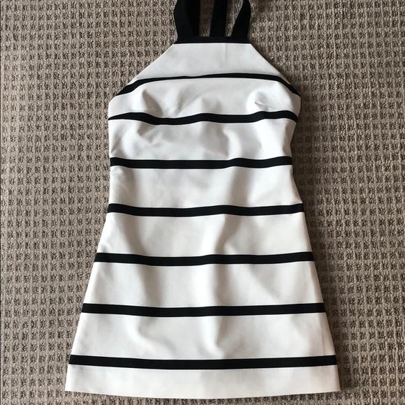 Zara Dresses & Skirts - Zara black and white striped skort dress